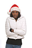 Young woman in Santa hat Stock Photography