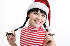 Young  woman  in Santa style Royalty Free Stock Images