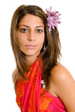 Young woman with sarong Royalty Free Stock Photos