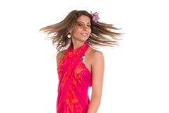 Young woman with sarong Stock Photo