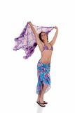 Young woman with sarong Royalty Free Stock Photography