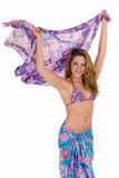 Young woman with sarong Stock Photo