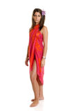 Young woman with sarong Royalty Free Stock Photo