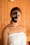 Young woman in sauna Royalty Free Stock Photos