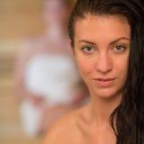 Young woman at sauna Stock Photos