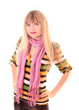 Young woman  in scarf Stock Photography