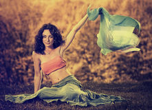Young woman with scarf Stock Image
