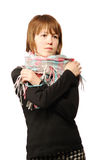 Young woman with a scarf Stock Images