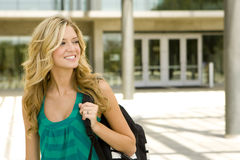 Young woman at school Royalty Free Stock Photo