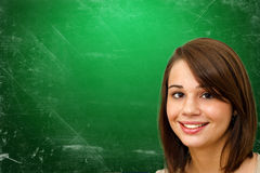 Young woman in school Royalty Free Stock Photos