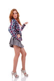 Young woman with a schoolgirl outfit Royalty Free Stock Photos