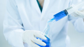 Young woman scientist working at the laboratory Royalty Free Stock Photography