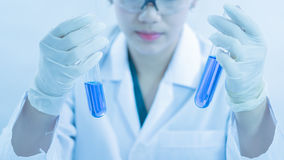 Young woman scientist working at the laboratory Royalty Free Stock Image