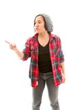 Young woman scolding Stock Image