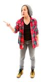 Young woman scolding Royalty Free Stock Photos