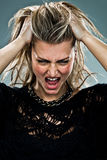 Young Woman Screaming Stock Photos