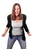 Young woman screaming Royalty Free Stock Photos
