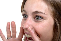 Young woman screams Stock Image