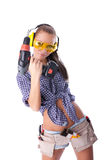 Young woman screwdriver Stock Image