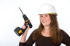 Young woman with screwdriver Stock Image