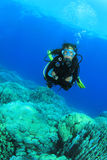 Young Woman Scuba Diver royalty free stock photo