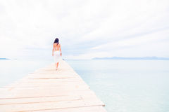 Young Woman By The Sea Stock Image