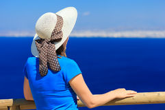 Young woman on sea vacation Royalty Free Stock Images