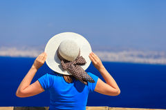 Young woman on sea vacation Royalty Free Stock Image