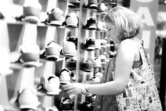 Young woman is shopping Royalty Free Stock Image