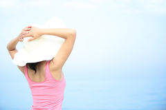 Young woman seaside Royalty Free Stock Image