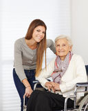 Young woman and senior citizen Stock Image