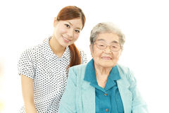 Young woman and senior woman Stock Photography