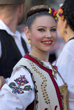 Young woman from Serbia in traditional costume 1 stock images