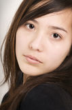 Young woman serious Royalty Free Stock Photography