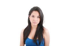 Young woman with serious face Royalty Free Stock Photos