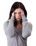 Young woman with severe headache Royalty Free Stock Photography