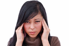 Young woman with severe headache Stock Photos