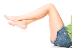 young woman with legs Royalty Free Stock Photo