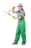 Young woman with shears Stock Images