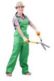 Young woman with shears Stock Photos