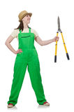 Young woman with shears Royalty Free Stock Image