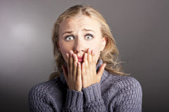 Young woman shocked Stock Images