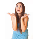 Young woman shocked Stock Photography