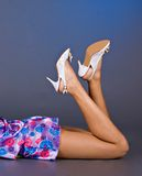 Young woman with shoes Stock Photos