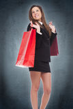 Young woman in shop royalty free stock photo