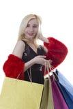 Young woman shopaholic Stock Photography