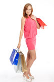 Young woman with shoping bags Royalty Free Stock Photo