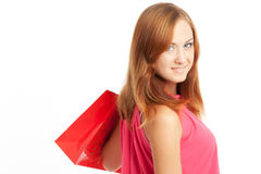Young woman with shoping bags Stock Photo