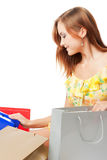 Young woman with shoping bags Stock Photos