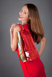 Young woman with shoping bags Stock Images